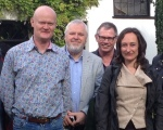 Owner David Blakeman with Committee members Bob Owens, David Walker and Nathalie Collé-Bak